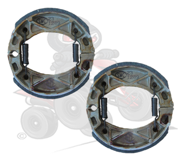 Genuine Pair of Front Brake Shoes for the Quadzilla 250 with Front Drum Brakes