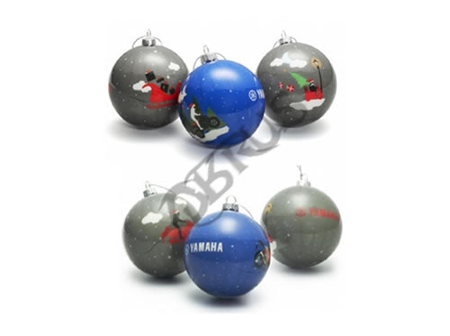 Genuine Yamaha 2020 Set of 6 Patterned Christmas Tree Baubles