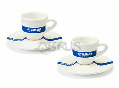 Genuine Yamaha 2020 Set Of 2 Racing Espresso Cup & Saucer Set
