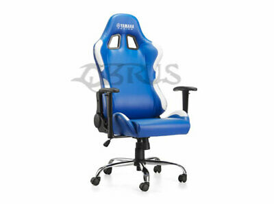 Brand New Genuine Yamaha Special Edition PU Leather Blue Racing Game Chair