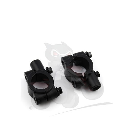 Universal Black Mirror Brackets Pair for ATV 10mm Thread