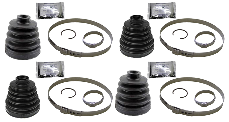 Replacement Full Front Set of Inner and Outer CV Boot Kits Yamaha