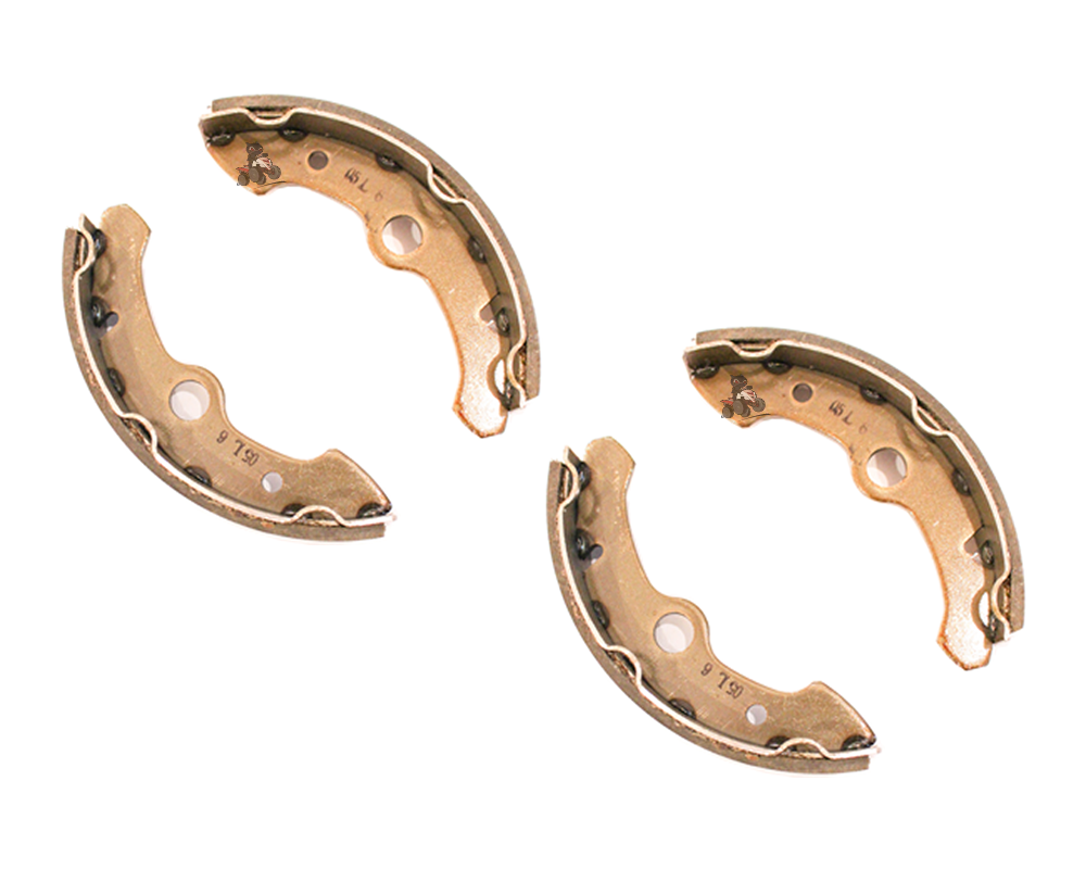 Pair of Front Brake Shoes for a Yamaha Big Bear 350 (88-89)