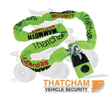 Thatcham Approved Mammoth 1.8m Security Chain and Lock