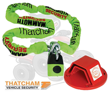 Thatcham Approved Mammoth 1.8m Chain & Bolt in Ground Anchor Set