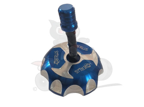 QBRUS Blue Alloy Fuel Cap with Breather Pipe