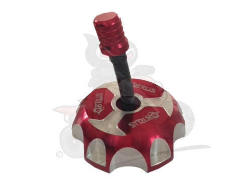QBRUS Red Alloy Fuel Cap with Breather Pipe