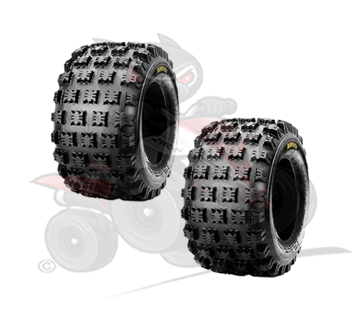 Pair of Maxxis Ambush 4 Ply Rear Tyres 18x10x8