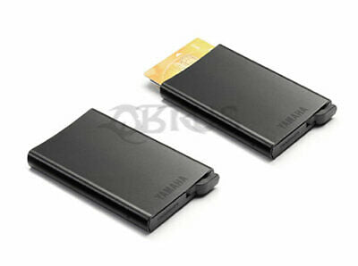 Genuine Yamaha 2020 Hypernaked Matt Black Metal Wallet Card Holder