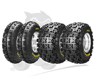 Set of 4 Maxxis Razr 2 E Marked Road Legal Tyres 6 Ply 21x7x10 & 20x11x9