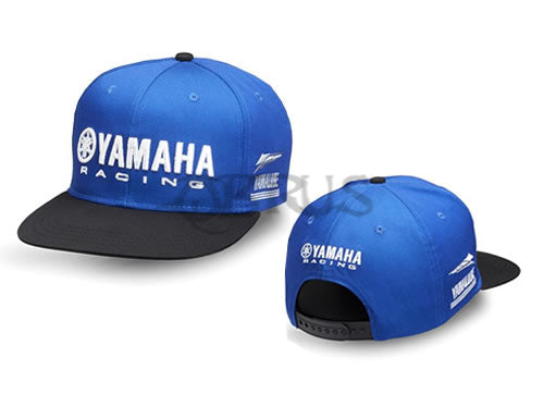 Genuine Yamaha 2018 Paddock Blue Black & Blue Adult Flat Peak Cap