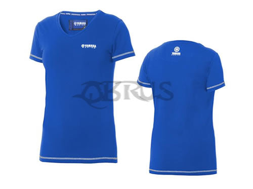 Genuine Yamaha Paddock Blue Ladies Casual T-Shirts Blue/Black