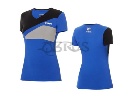 Genuine Yamaha Paddock Blue Ladies Race T-Shirt