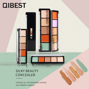 QIBEST Cosmetic Foundation 15 Color Makeup Waterproof Face Eyebrow Concealer Palette For Oily Skin - Qibest Cosmetics