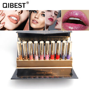 QIBEST Waterproof Matte Liquid Lipstick Lip Gloss Set - Qibest Cosmetics
