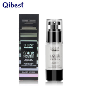 QIBEST Cosmetic Blend Skin Liquid Waterproof Color Changing Mineral Foundation - Qibest Cosmetics