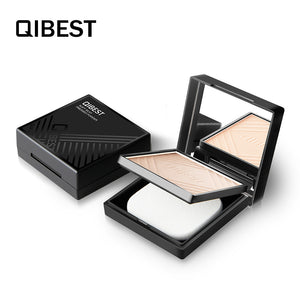 QIBEST Brand Makeup Foundation Oil Control Waterproof Compact Setting Face Powder For Oily Skin - Qibest Cosmetics