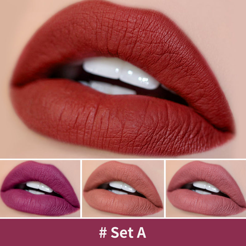 Matte Red Lipstick Set, 4 Shades Make up Mini Size Tubes
