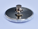 Back of Strapsaway magnetic button showing fastening mechanism.