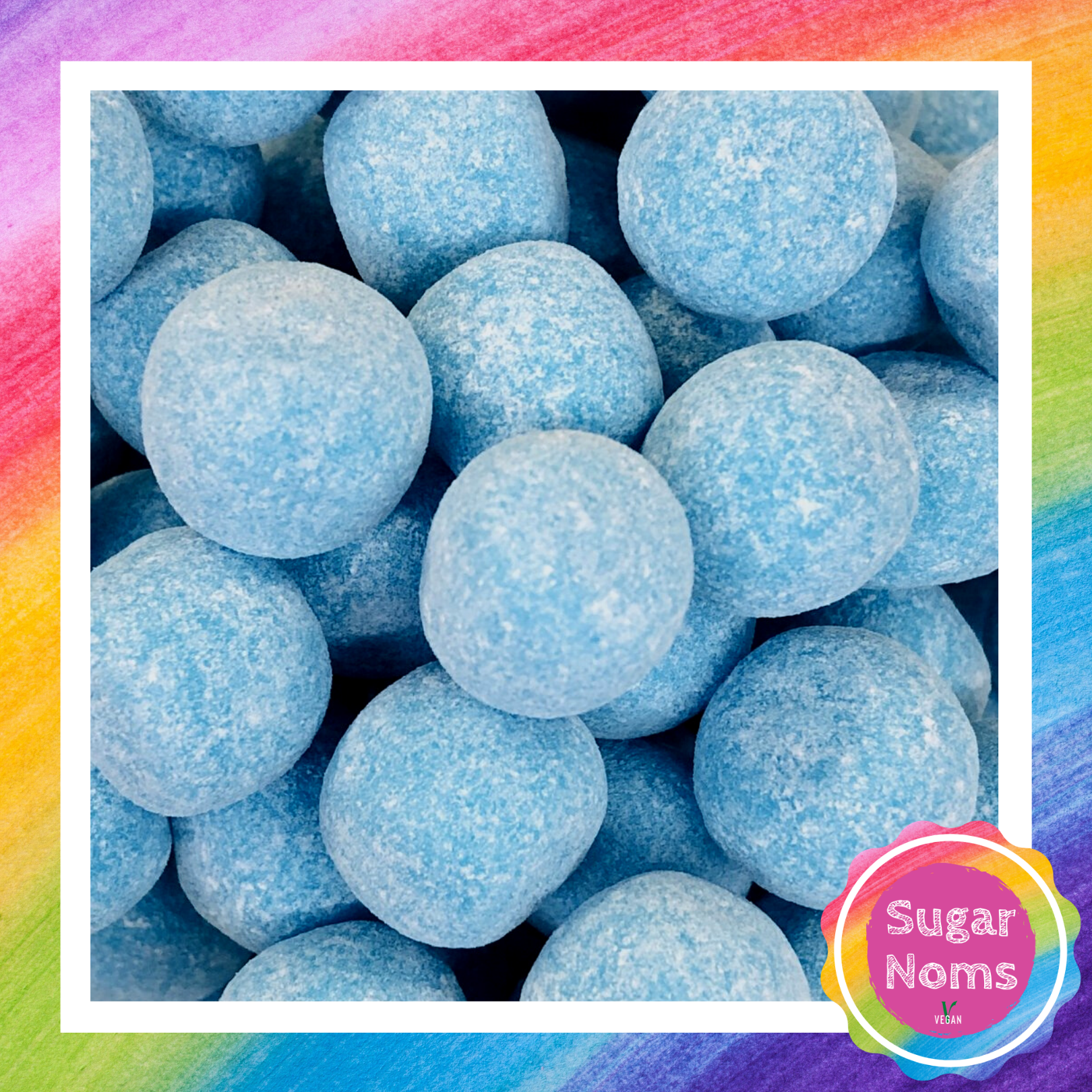 Vegan Blue Raspberry Bonbons Sweets