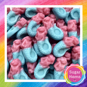Vegan Bubblegum Mermaids Sweets