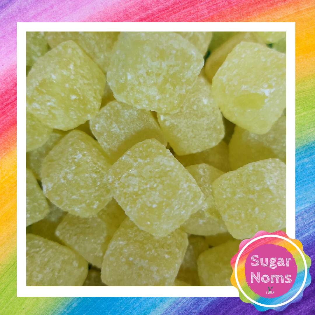 Vegan Pineapple Cubes Sweets