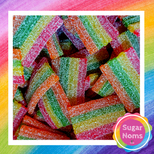 Vegan Rainbow Strips Sweets