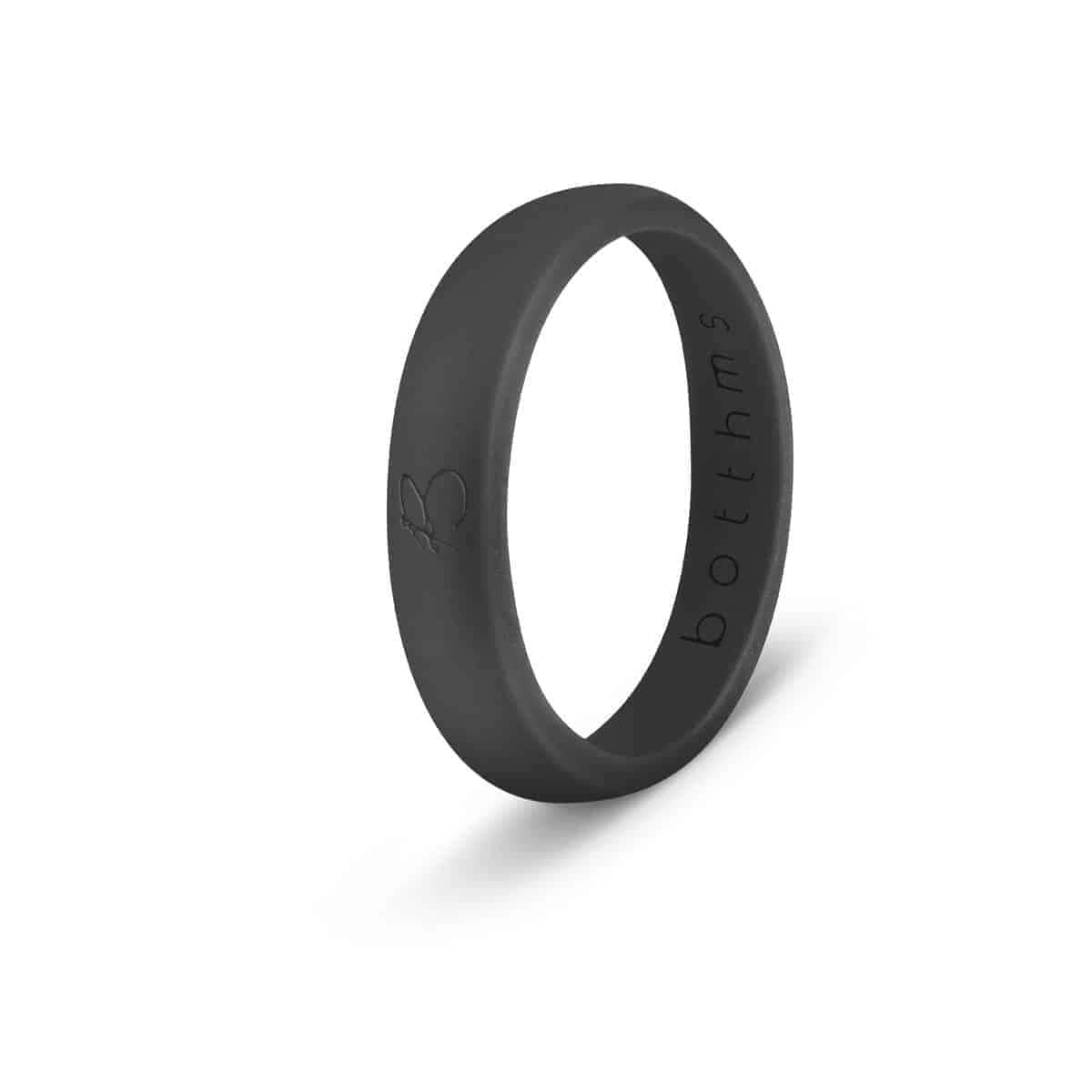 botthms Black Ladies Active Silicone Ring
