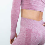 botthms Seamless Pink Yoga Set