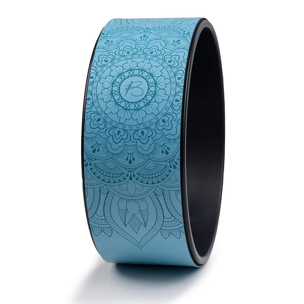 botthms Blue PU Yoga Wheel