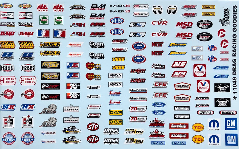 GR-11049 Drag Racing Goodies Decals