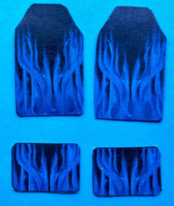 PDT-703 Blue Flames Car Mat Set