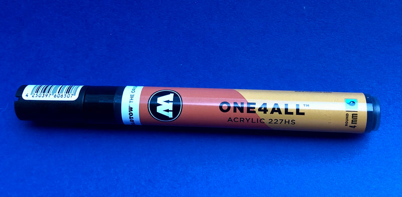 M-227 Molotow Metallic Black Acrylic Paint Marker- 4mm