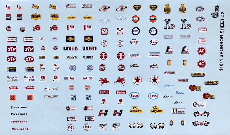GR-11011 Sponsor Decal Sheet