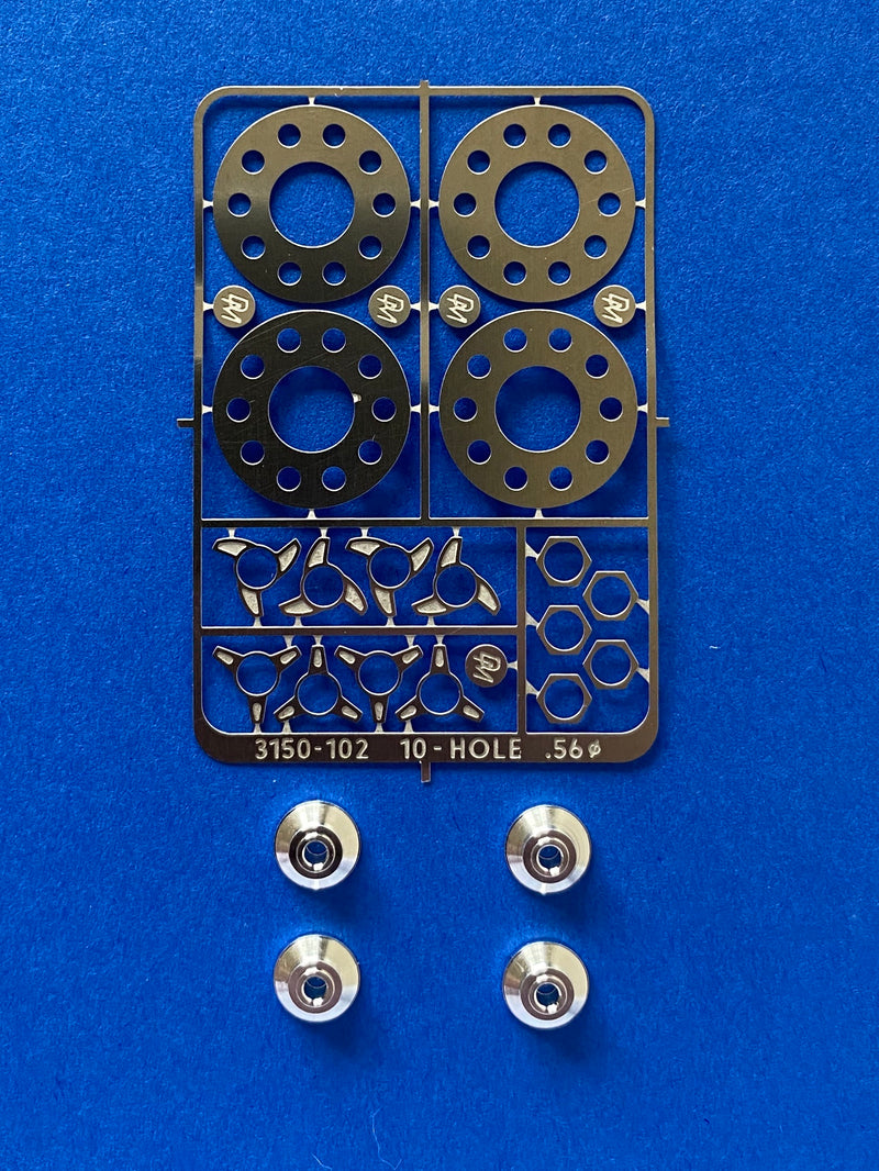 DM-3150-102 10 Hole Photo Etch Center with Billet Center Caps