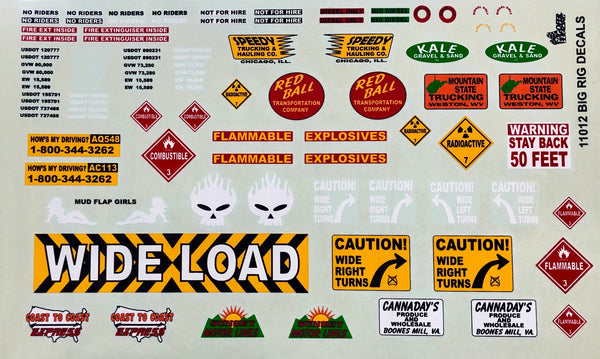 GR-11012 Big Rig Decals
