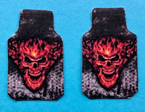 PDT-701 Flaming Skull Car Mat Set