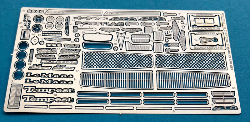 MCG-2267 1967 GTO/Lemans/Tempest Detail Set
