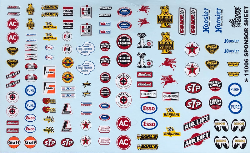 GR-11006 Sponsor Decal Sheet