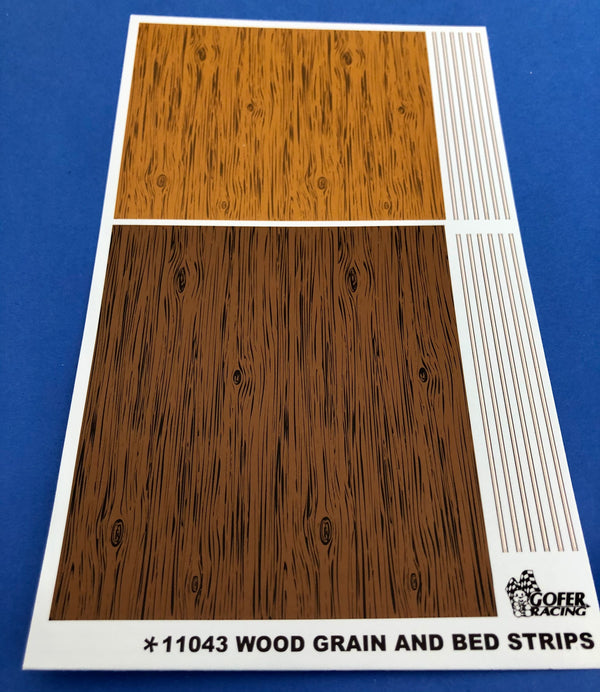 GR-11043 Wood Grain and Bed Strips Decals