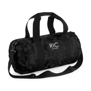 RIC MILANO EMBROIDERED Barrel Bag Camo