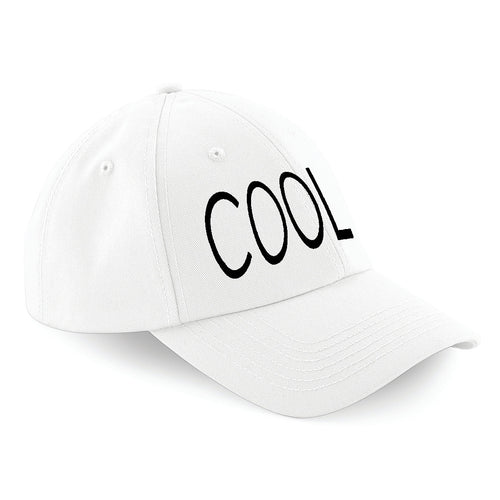 COOL EMBROIDERED Baseball Cap White