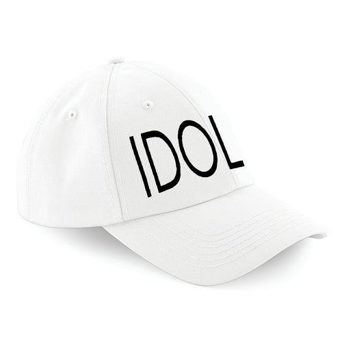 IDOL EMBROIDERED Baseball Cap White