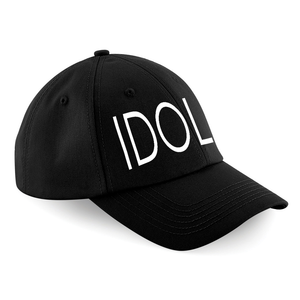 IDOL EMBROIDERED Baseball Cap Black