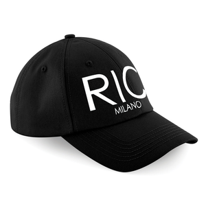 RIC MILANO EMBROIDERED Baseball Cap Black