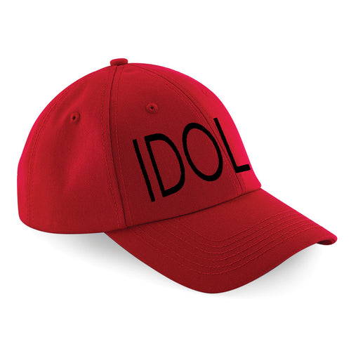 IDOL EMBROIDERED Baseball Cap Red