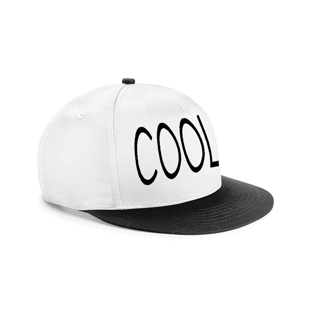 COOL EMBROIDERED Snapback Cap White