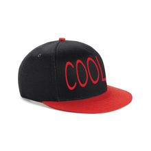 Load image into Gallery viewer, COOL EMBROIDERED Snapback Cap Black With Red Visor