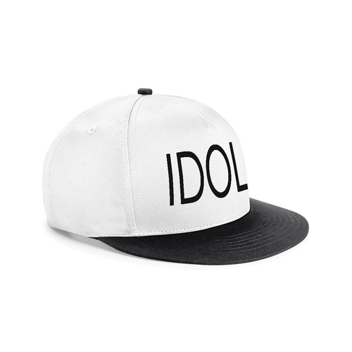 IDOL EMBROIDERED Snapback Cap White