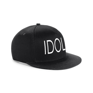 IDOL EMBROIDERED Snapback Cap Black